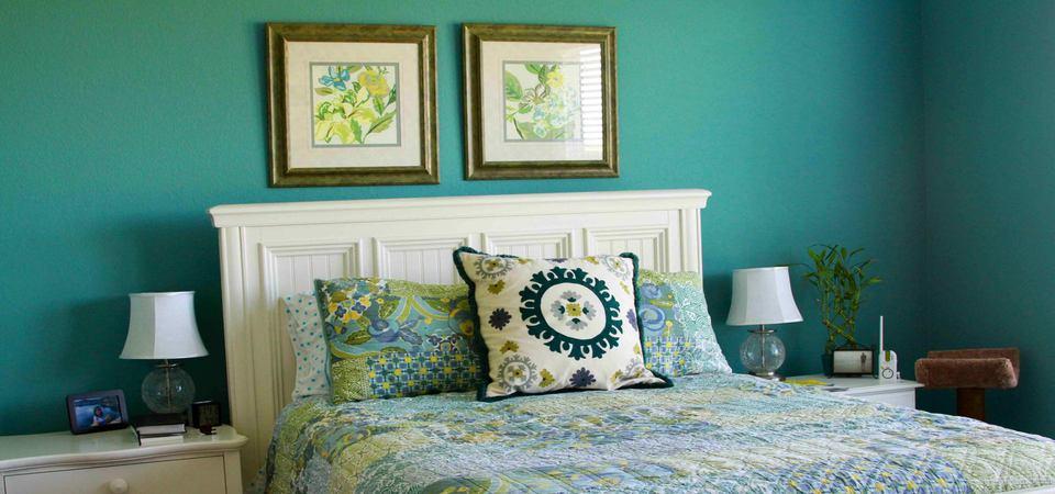 20 бирюзовых спален для хорошего сна