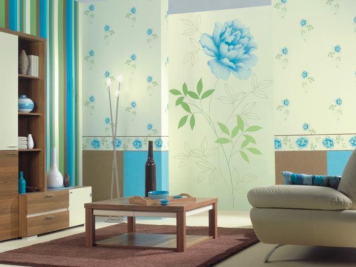 Гостиная, холл в цветах: бирюзовый, серый, светло-серый, белый, салатовый. Гостиная, холл в стилях: классика.