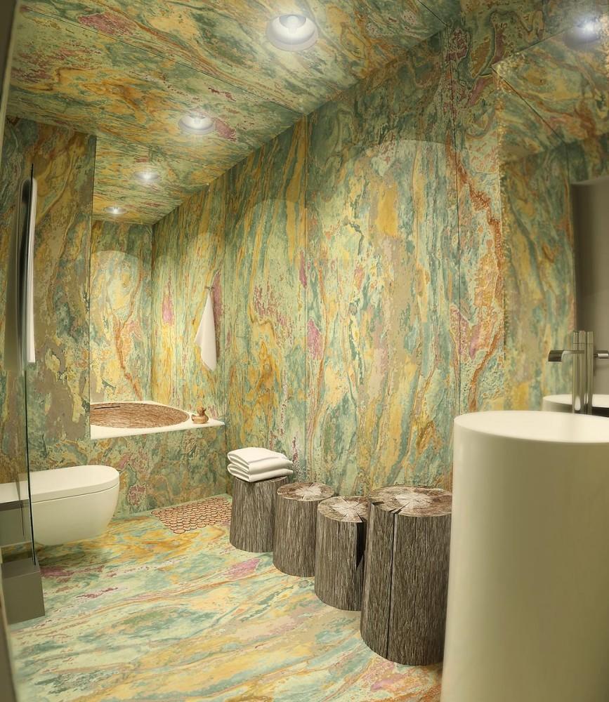 Туалет в цветах: светло-серый, белый, бежевый. Туалет в стилях: минимализм, экологический стиль.