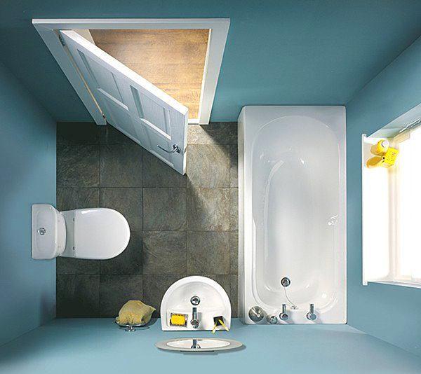 Туалет в цветах: голубой, серый, белый, лимонный, сине-зеленый. Туалет в .