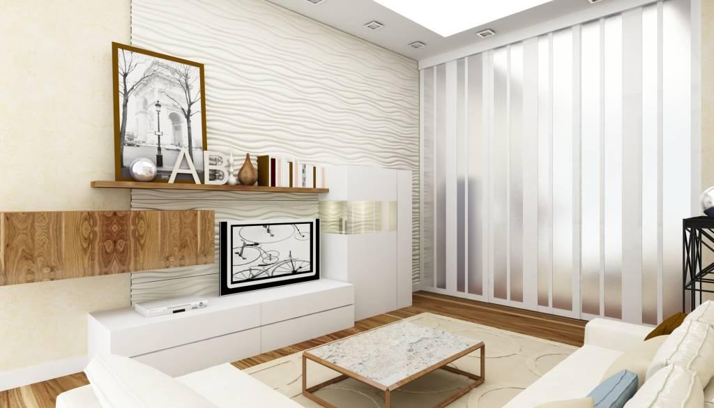 Гостиная, холл в цветах: серый, светло-серый, коричневый, бежевый. Гостиная, холл в стиле минимализм.