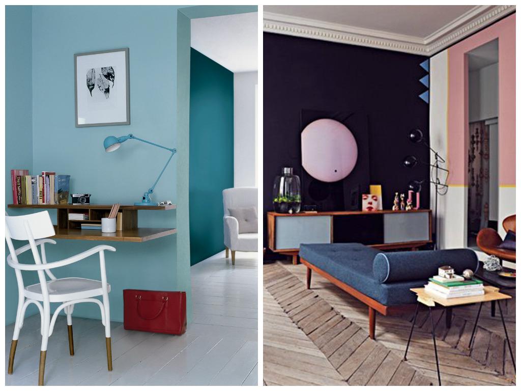 Гостиная, холл в цветах: бирюзовый, черный, серый, светло-серый. Гостиная, холл в стилях: минимализм, поп-арт.