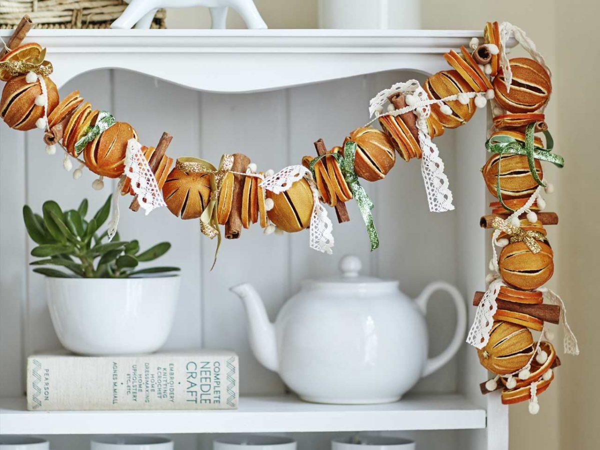 30 идей рождественского декора с помощью цитрусовых