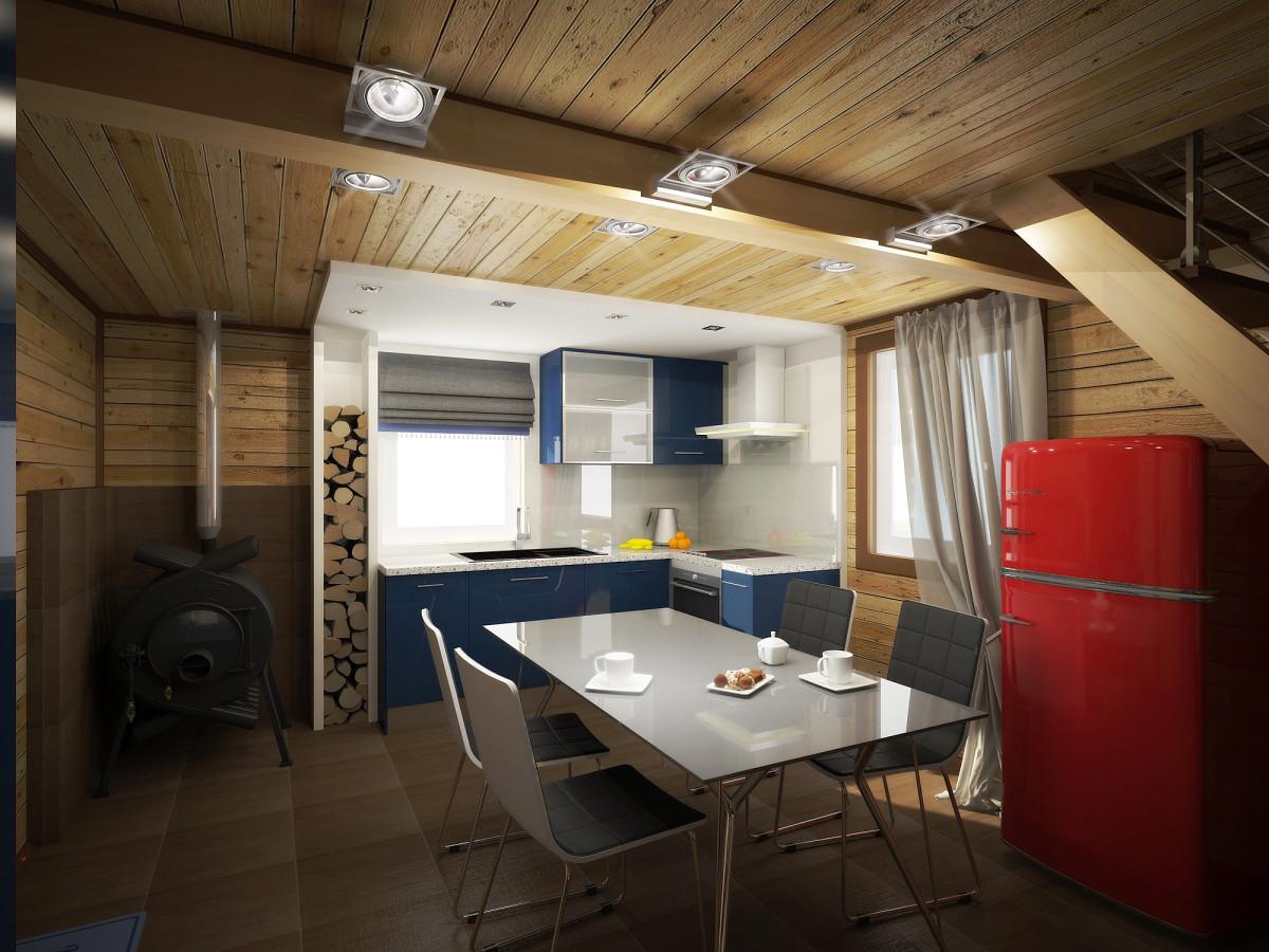 Стильный дачный домик площадью 51 метр