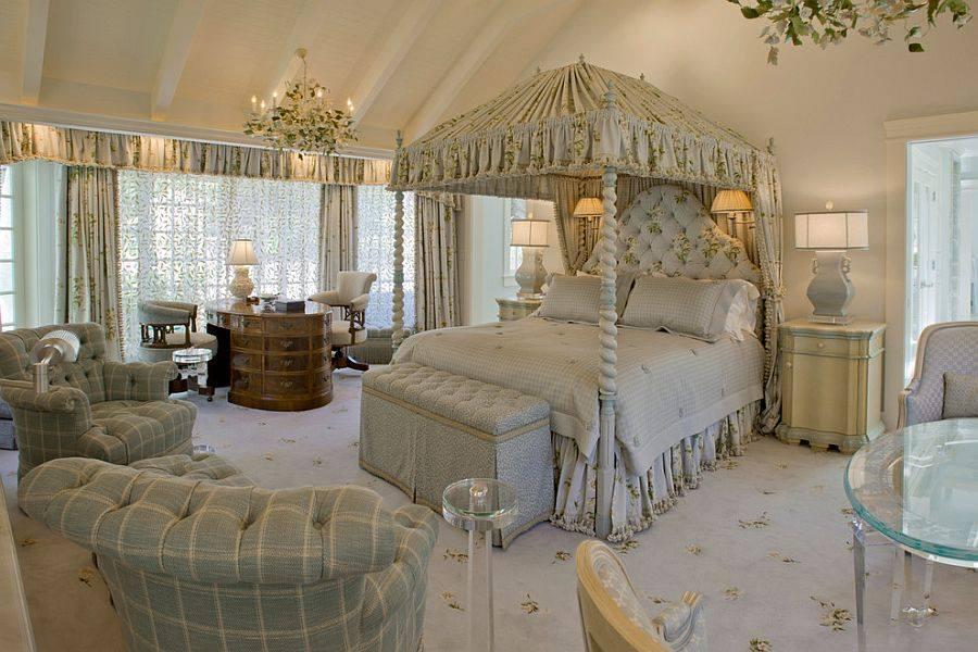 Спальня в  цветах:   Бежевый, Коричневый, Светло-серый, Серый, Темно-коричневый.  Спальня в  стиле:   Классика.