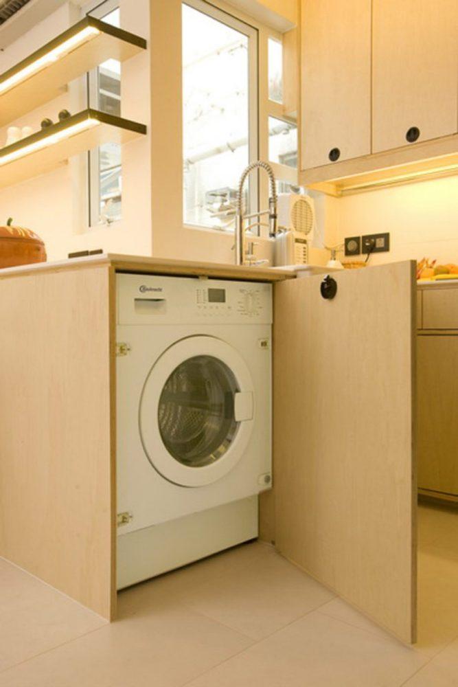 Стиральная машина на кухне as-de.ru.