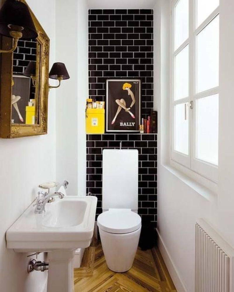 Туалет в  цветах:   Бежевый, Белый, Светло-серый, Темно-коричневый, Черный.  Туалет в  стиле:   Эклектика.
