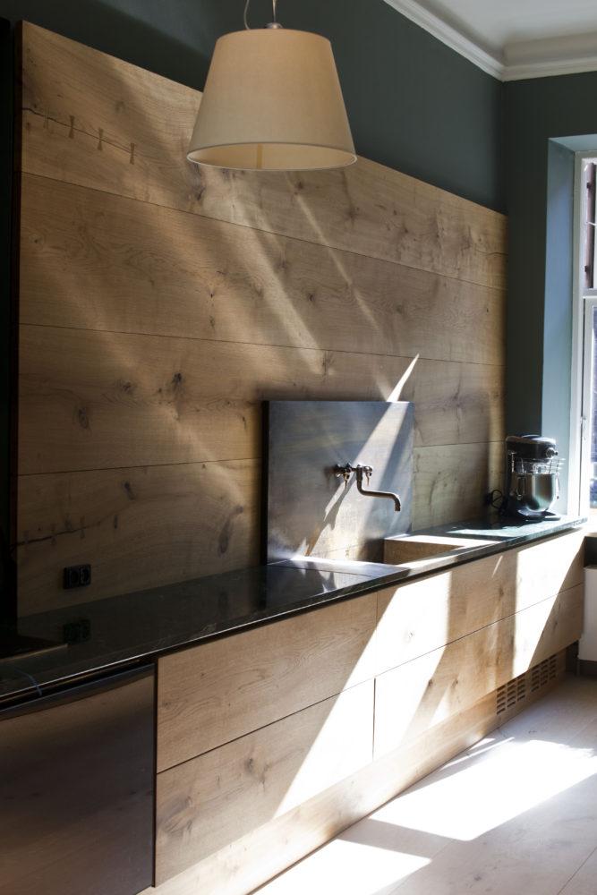 17 деревянных кухонных фартуков