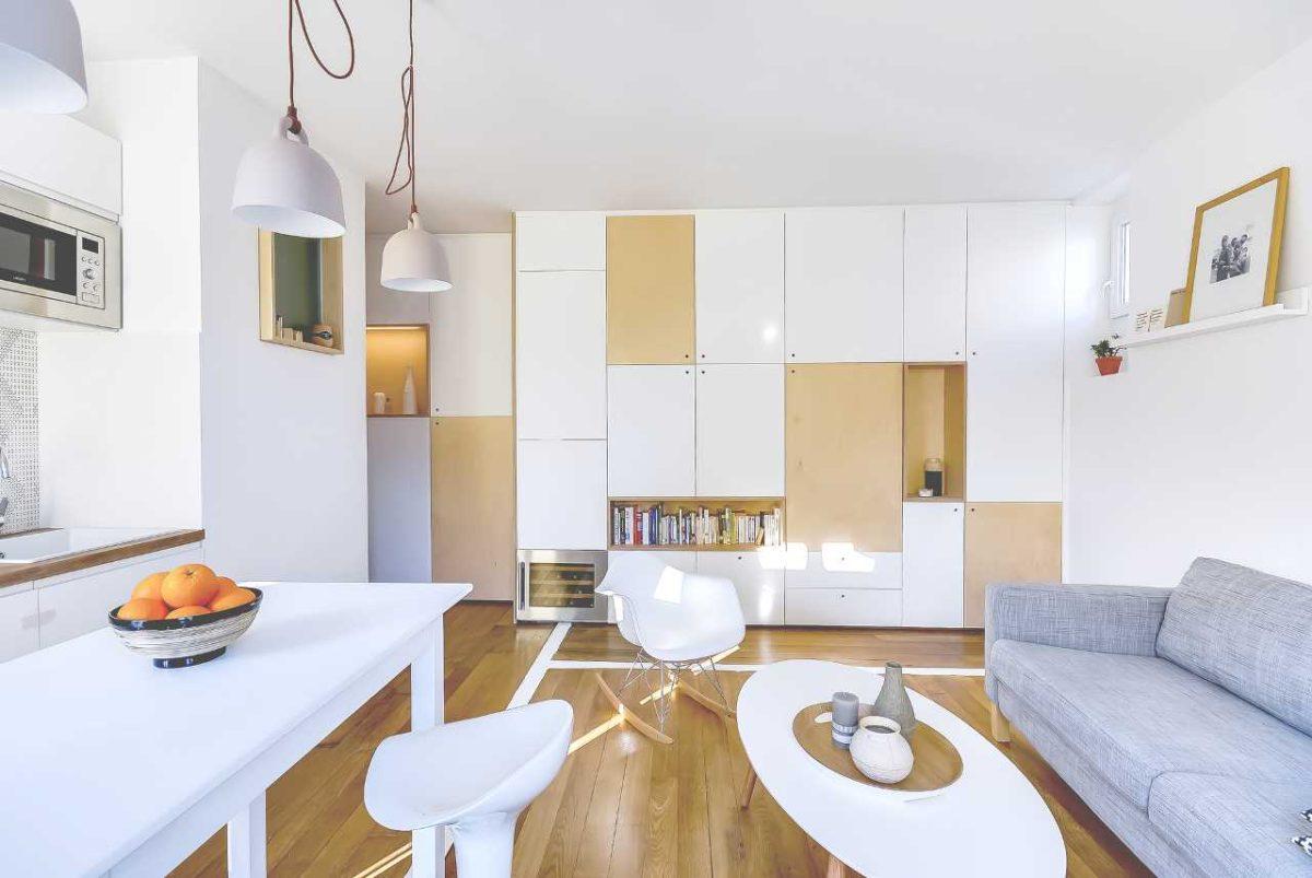 Как грамотно спланировать квартиру площадью 30 квадратов: пример из Парижа