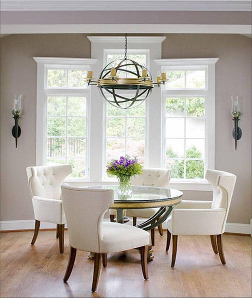 Кухня/столовая в  цветах:   Бежевый, Белый, Светло-серый, Серый.  Кухня/столовая в  стиле:   Неоклассика.