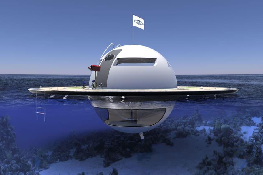 Вы бы хотели жить в плавучем доме, который выглядит как НЛО?