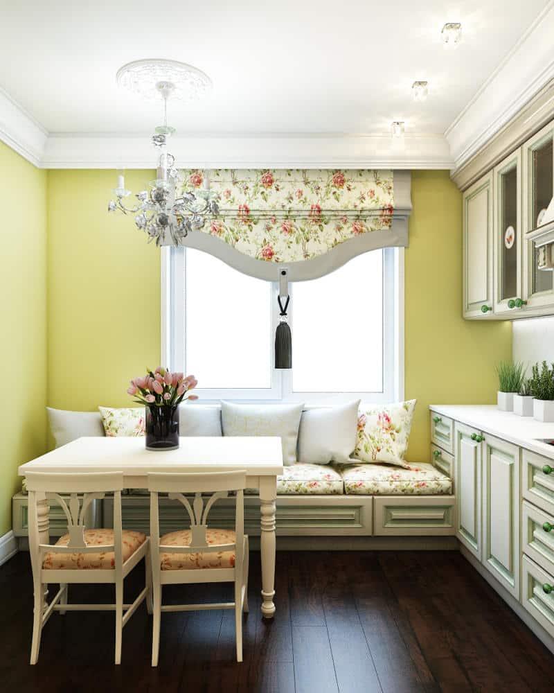 Кухня/столовая в  цветах:   Бежевый, Белый, Салатовый, Светло-серый, Черный.  Кухня/столовая в  стиле:   Прованс.