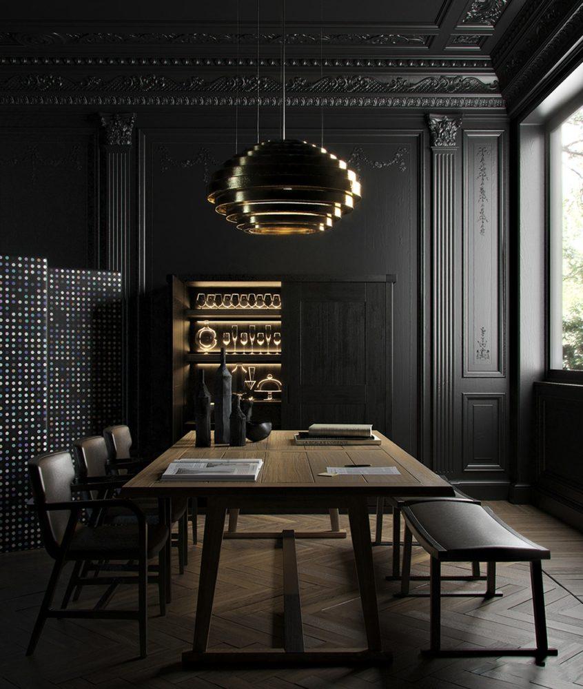 Чёрный цвет в дизайне интерьера: советы по применению