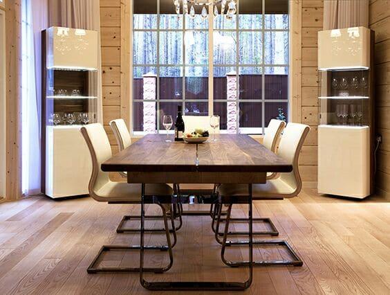 Кухня/столовая в  цветах:   Бежевый, Коричневый, Светло-серый, Темно-коричневый, Черный.  Кухня/столовая в  стиле:   Минимализм.