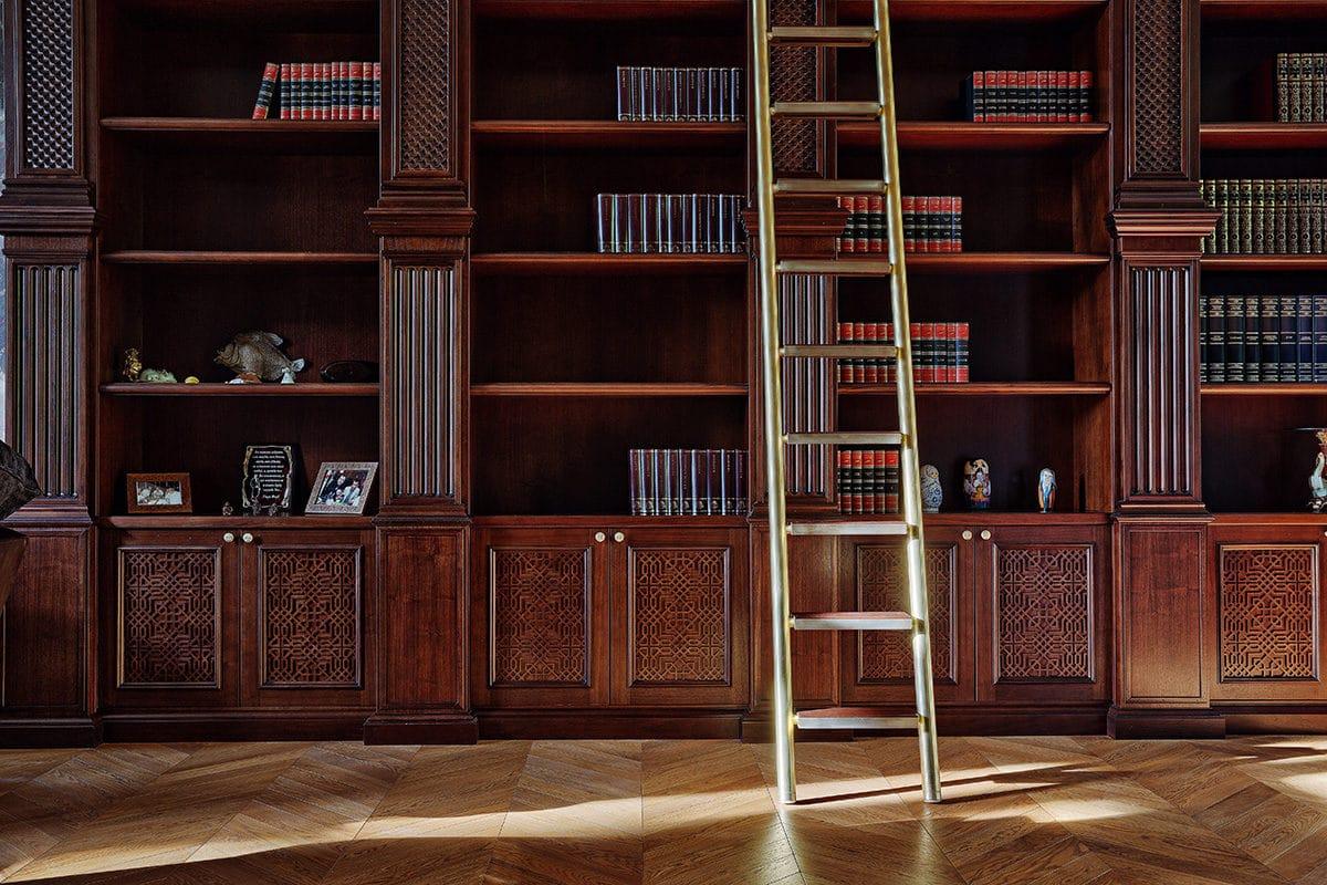Библиотека в  цветах:   Коричневый, Темно-коричневый, Черный.  Библиотека в  стиле:   Классика.