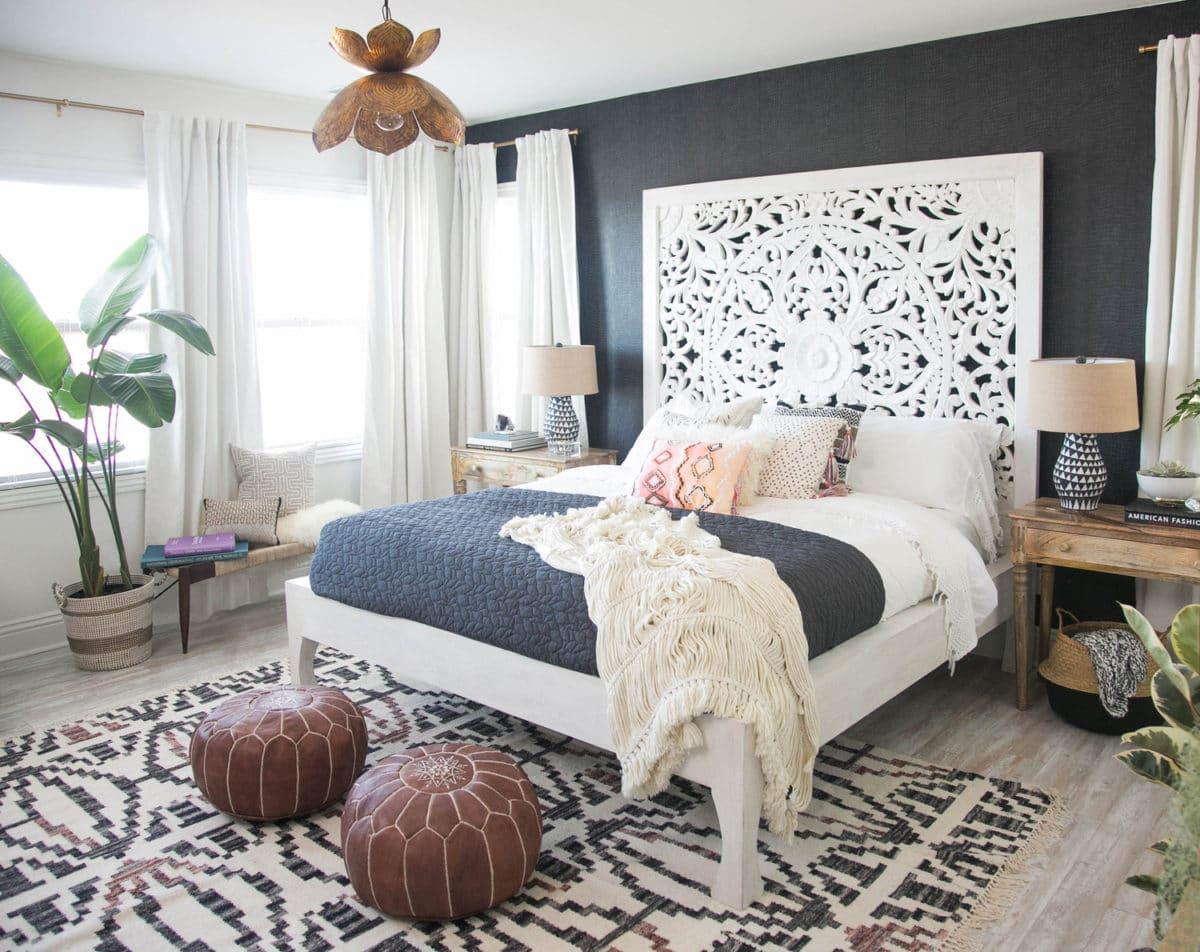 Как оформить изголовье кровати: 18 зимних примеров