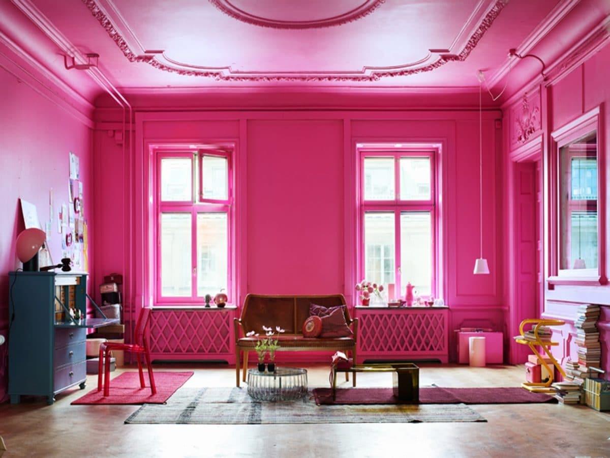 Новый модный цвет в интерьере — розовый тысячелистник