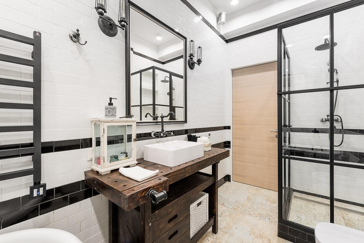 Ванная в  .  Ванная в  стиле:   Лофт.