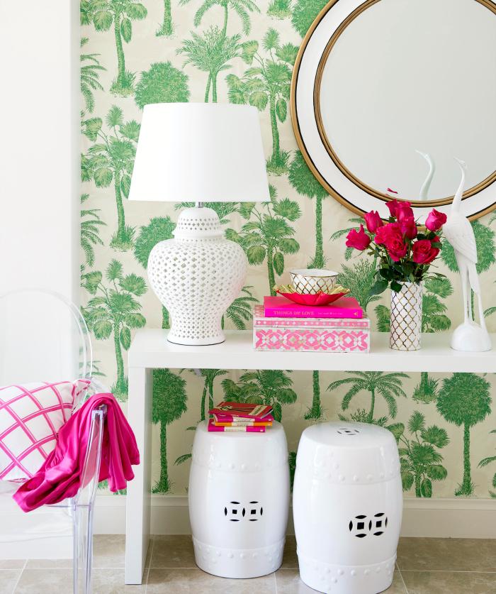 Гостиная в  цветах:   Бежевый, Зеленый, Розовый, Светло-серый, Темно-зеленый.  Гостиная в  стиле:   Восточные стили.
