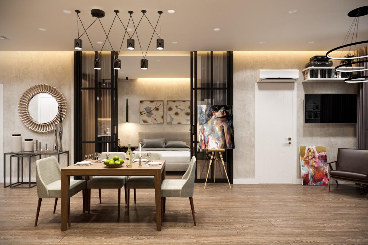Однушка на троих: как разделить одну комнату на гостиную, спальню и детскую