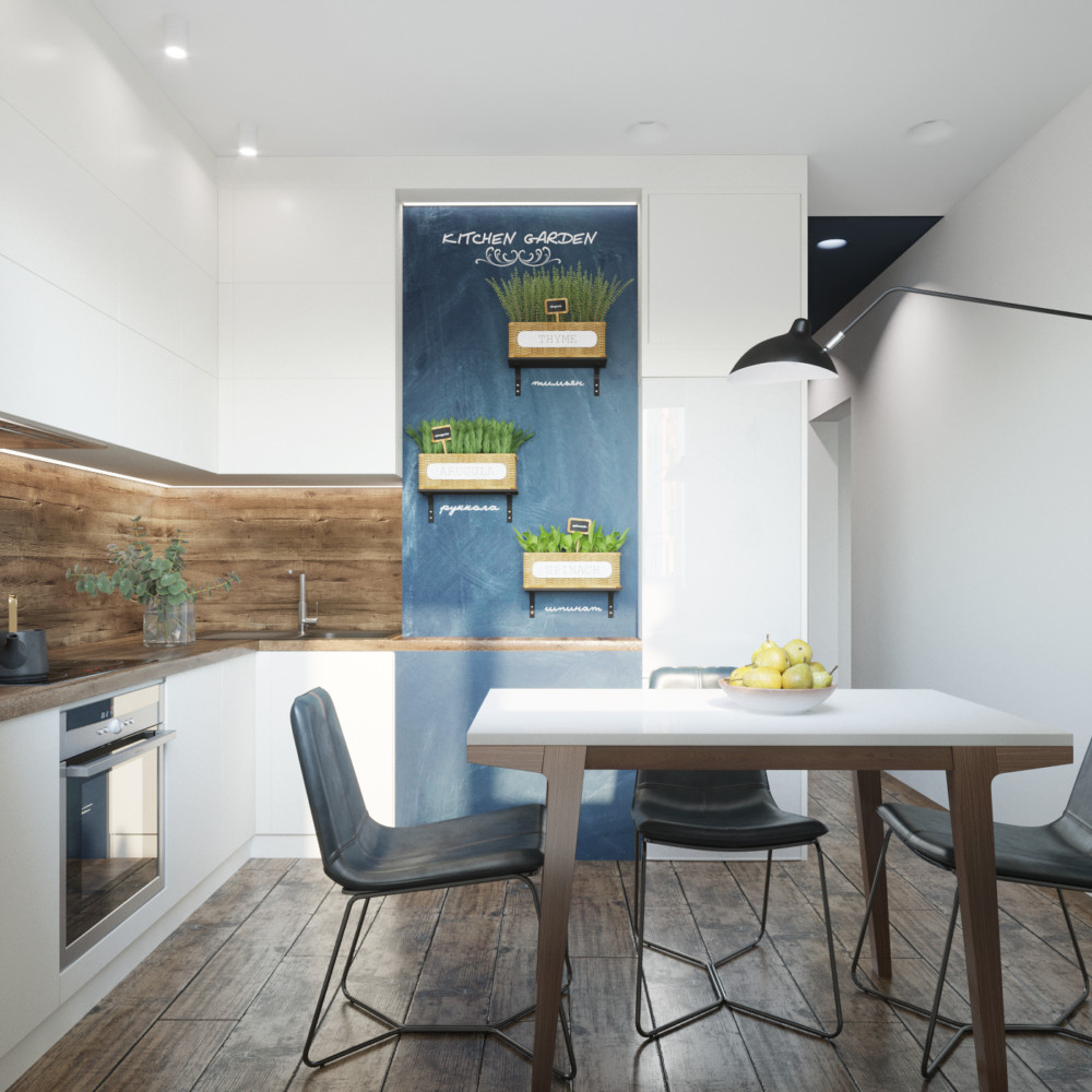 Белая кухня — лучшее решение для небольших пространств.