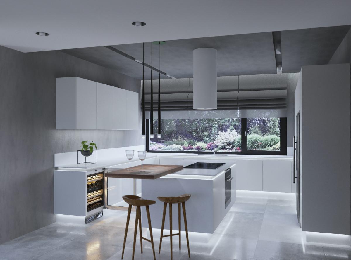 Лаконичный дизайн белой кухни с продуманной до мелочей эргономикой мебели Nolte.