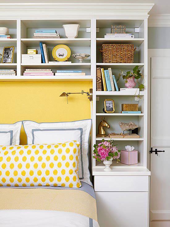 Спальня в  цветах:   Бежевый, Желтый, Коричневый, Светло-серый.  Спальня в  стиле:   Скандинавский.