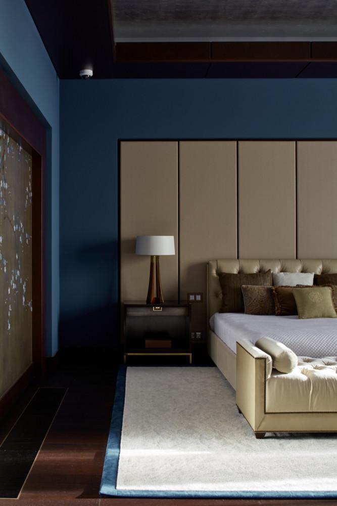 Спальня в  цветах:   Бежевый, Бирюзовый, Светло-серый, Фиолетовый.  Спальня в  стиле:   Неоклассика.