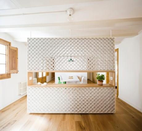 Кухня/столовая в  .  Кухня/столовая в  стиле:   Минимализм.