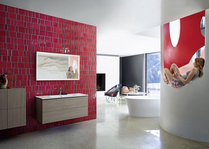 Ванная в  цветах:   Бордовый, Коричневый, Красный, Светло-серый, Фиолетовый.  Ванная в  стиле:   Минимализм.