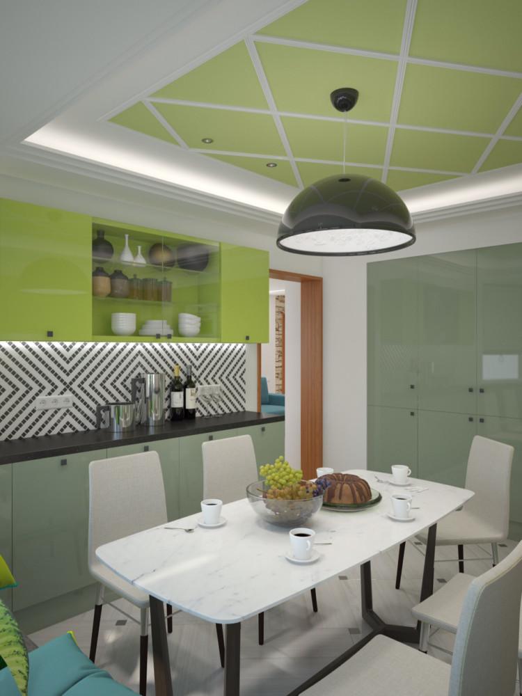 Квартира подверглась глобальной перепланировке. Огромный плюс, что в существующем плане от застройщика предусмотрено два входа на кухню.