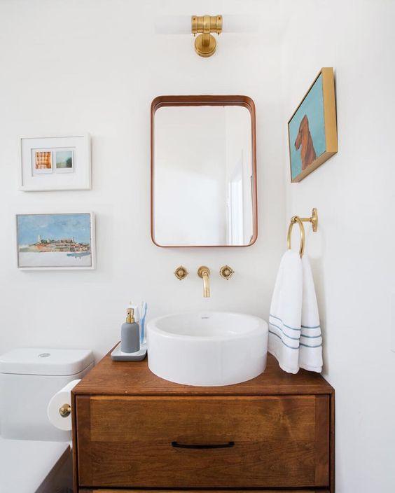 Ванная в  цветах:   Бирюзовый, Коричневый, Светло-серый, Темно-коричневый.  Ванная в  стиле:   Скандинавский.