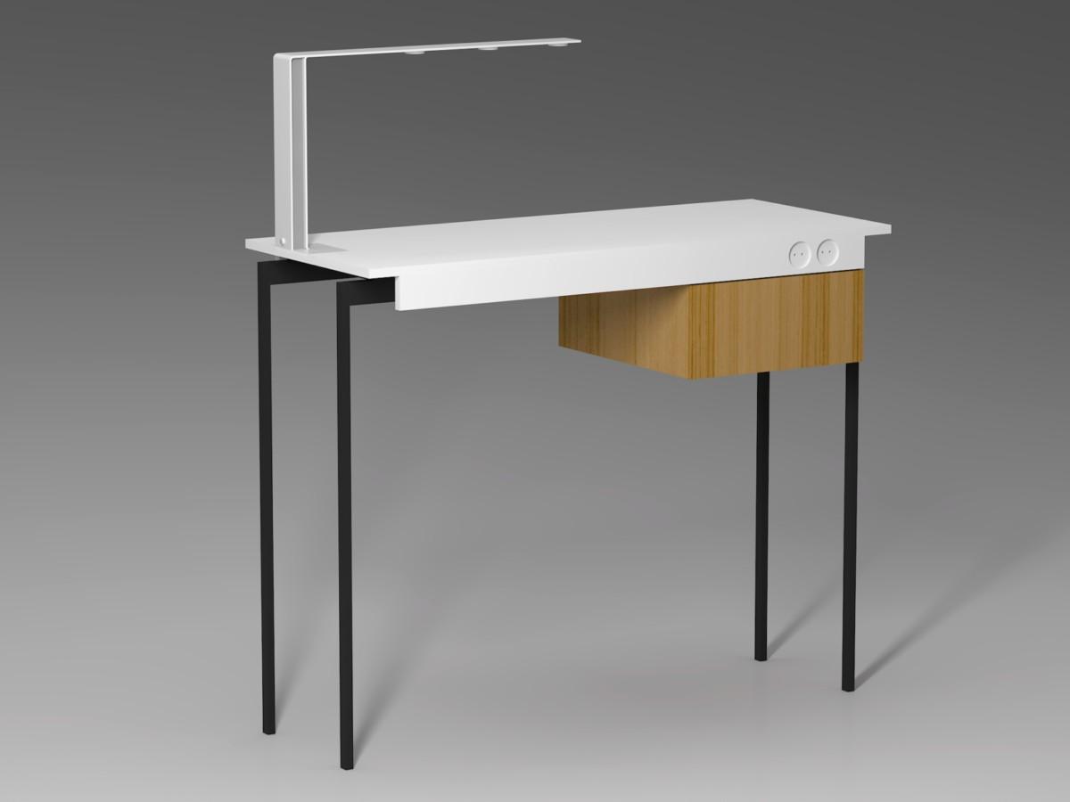 Это визуализация маникюрного столика в том виде, в котором он был спроектирован и отдан на производство.