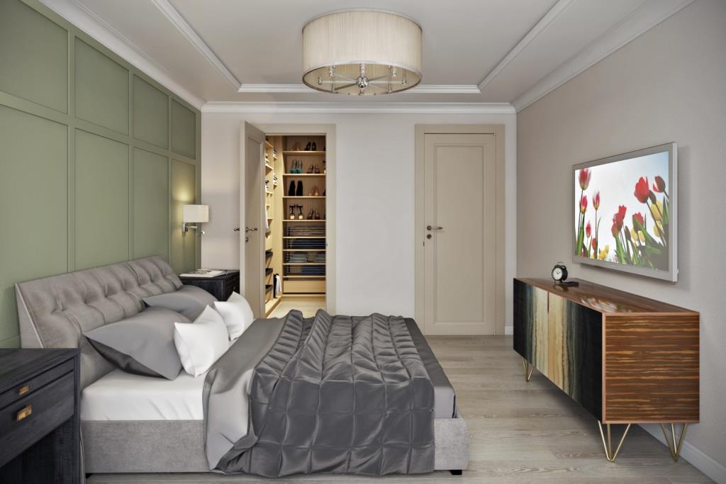 Если площадь комнаты позволяет, то, непременно, нужно позволить себе просторную, уютную кровать