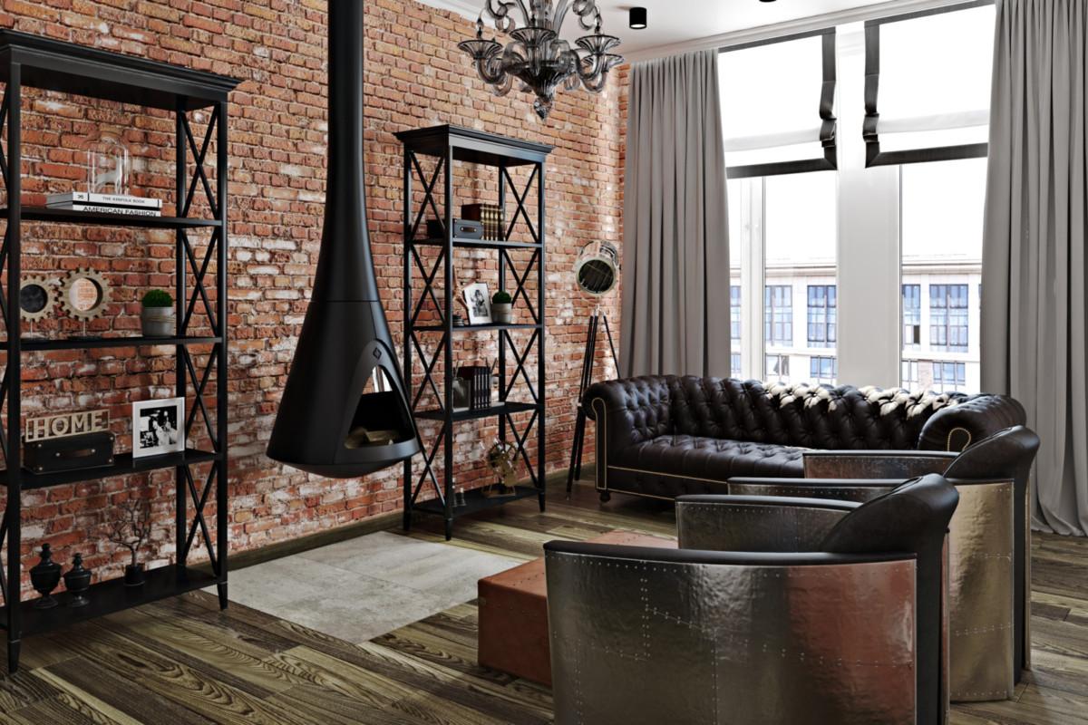 Смешать, но не взбалтывать: классика и лофт в одной московской квартире