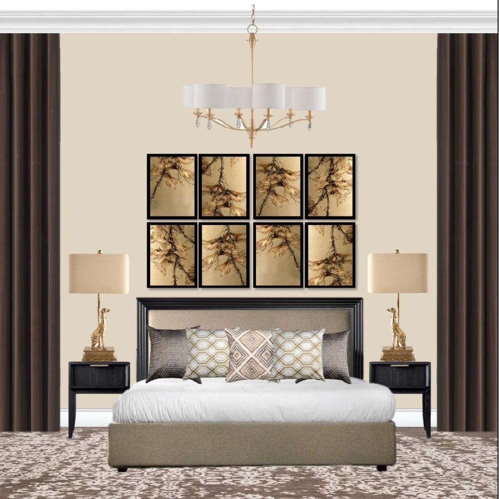 Спальня - шоколад и золото