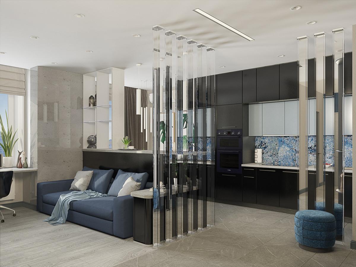 Квартира мечты в современном стиле на троих