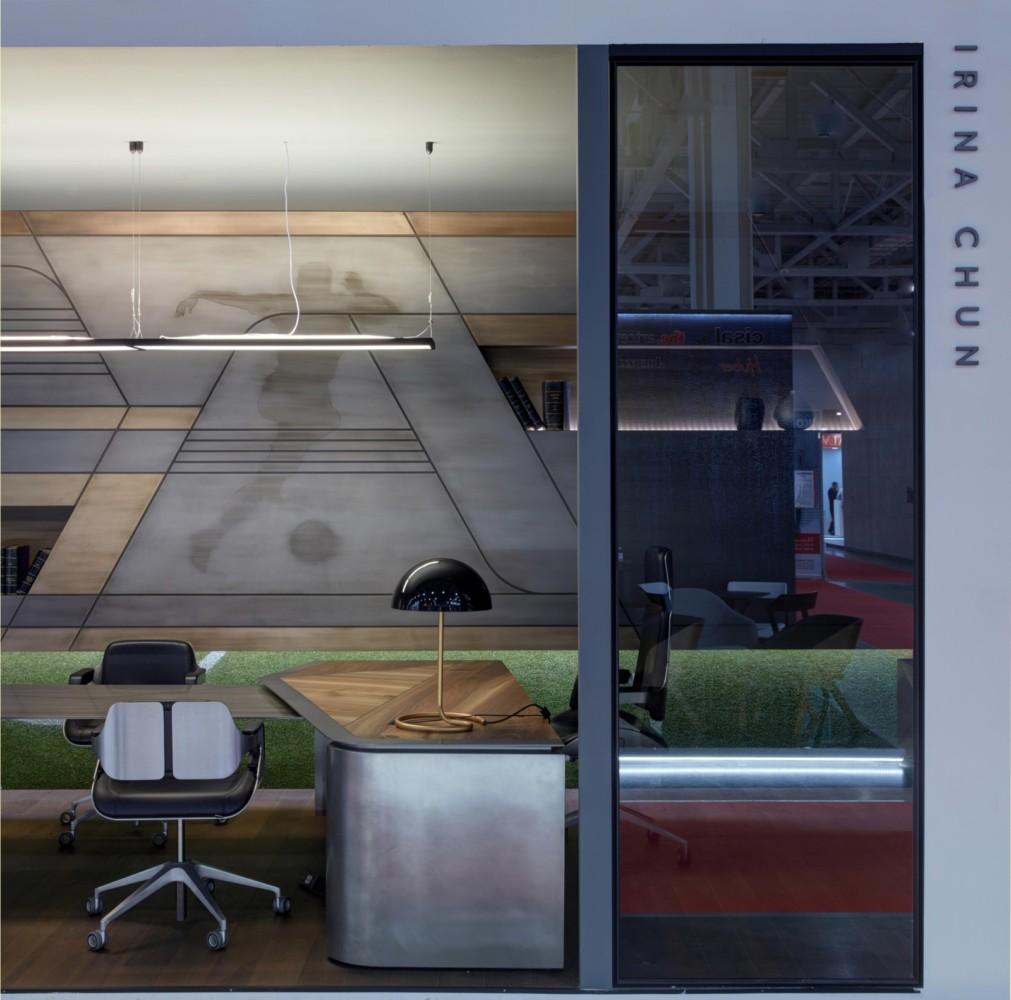 Интерьер мужского кабинета с домашним кабинетом