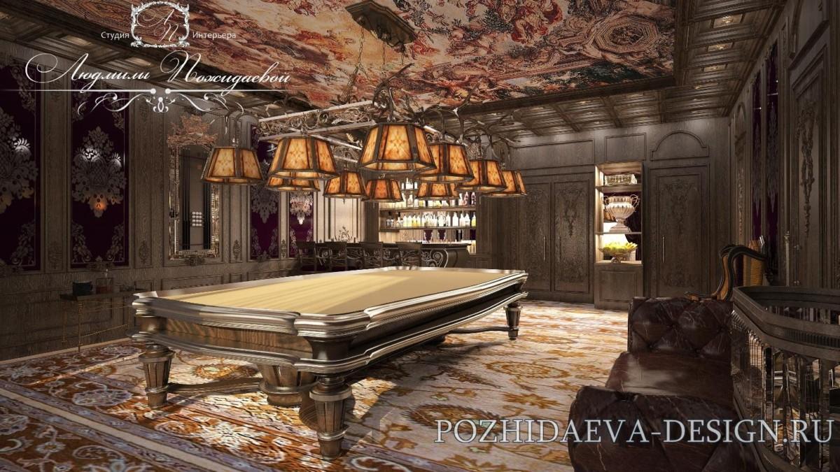 Бильярд - игра захватывающая, интеллектуальная, размеренная, со множеством традиций.  В помещении предусмотрен очень удобный бар.