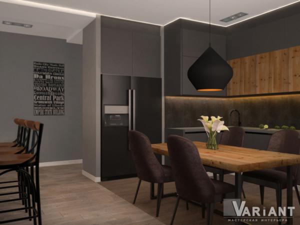 Кухня/столовая в  цветах:   Бежевый, Зеленый, Коричневый, Оранжевый, Темно-коричневый.  Кухня/столовая в  стиле:   Эклектика.