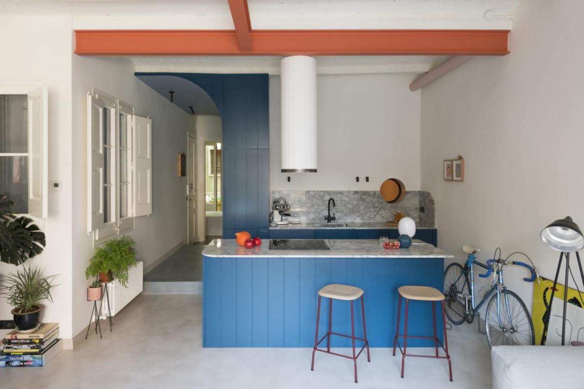 8 идеальных синих кухонь