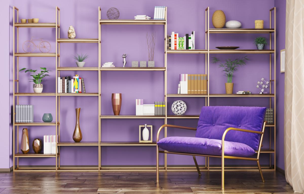 Фиолетовый интерьер: смелые эксперименты с цветом
