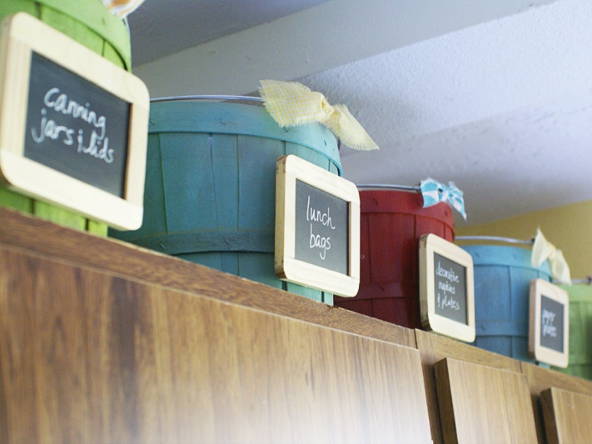 Как заполнить пространство над кухонными шкафами — 13 идей
