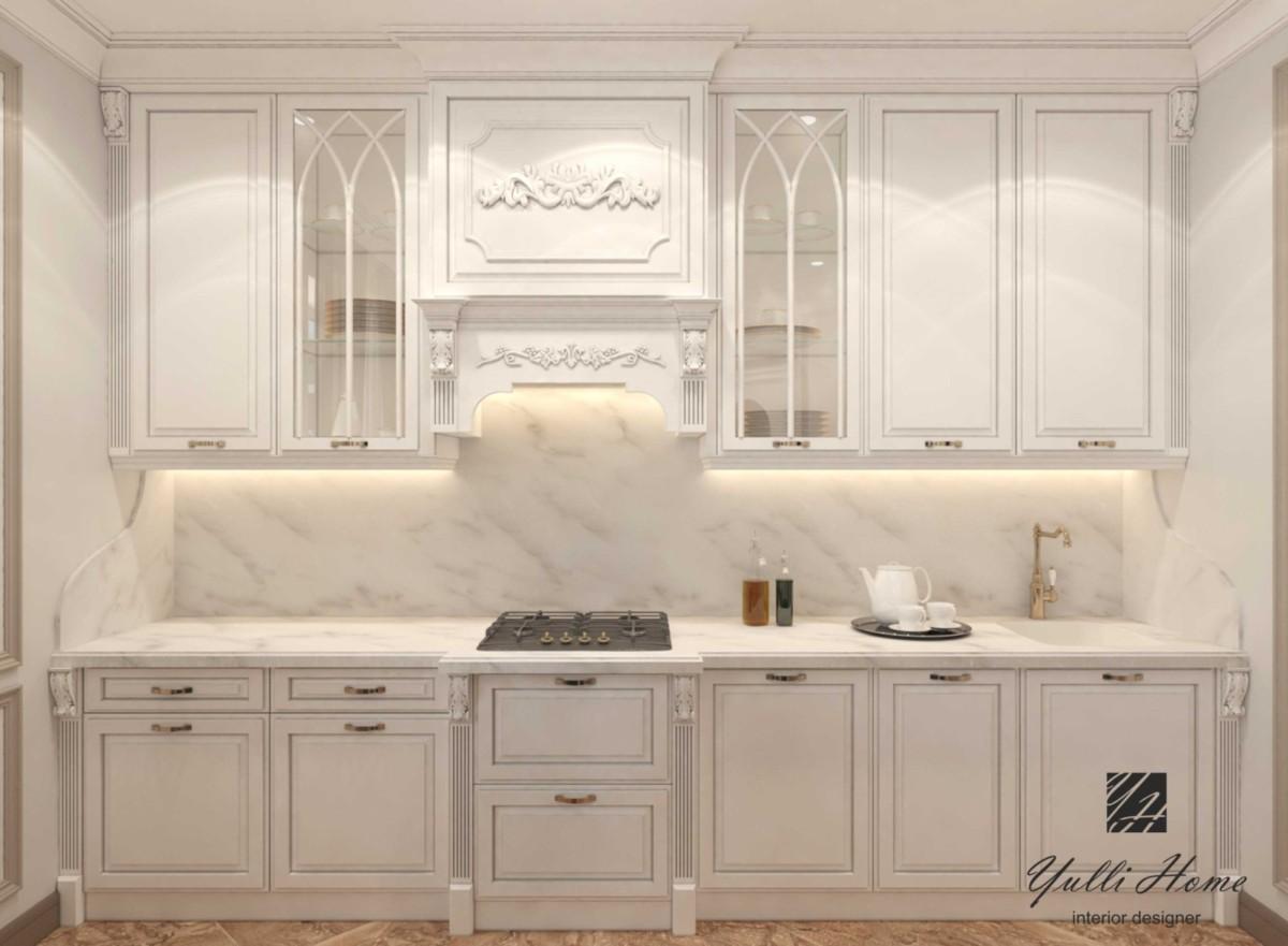 Три варианта планировки классической кухни с неправильной геометрией стен