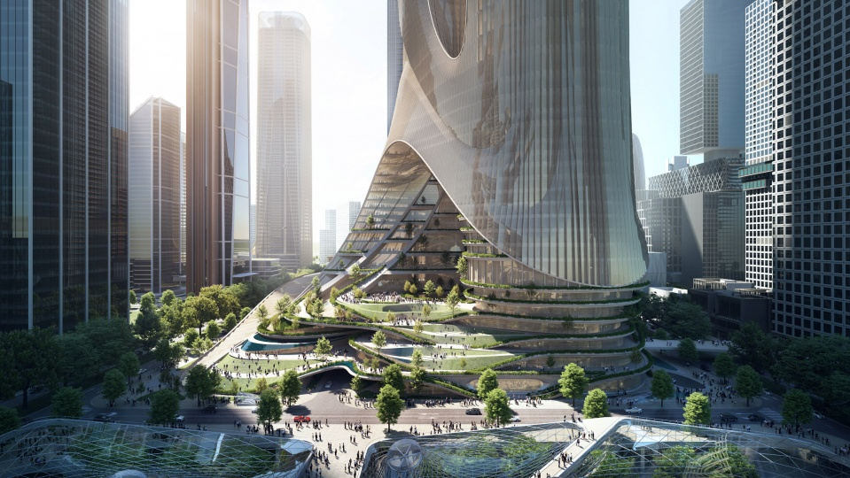 Zaha Hadid Architects разрабатывает проект двух небоскрёбов в Шеньчжене высотой 400 метров